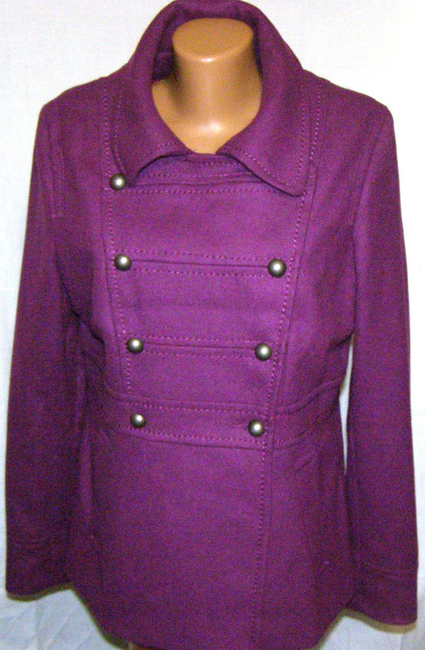 Шерстяное женское полу пальто (48- 50 р)