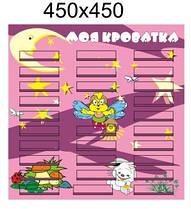 Стенд Список для детского сада На кроватки
