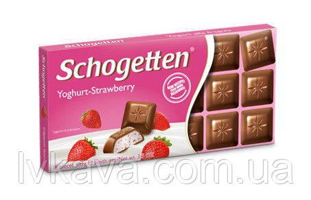Молочный шоколад Schogetten Youghurt-Strawberry,100 гр, фото 2