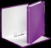 Папка на 2-х кольцах Leitz WOW А4 ширина торца 40 мм фиолетовая