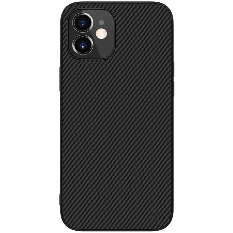 Nillkin iPhone 12 mini (5.4″) Synthetic fiber Black Чехол Накладка Бампер