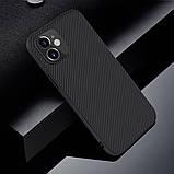 Nillkin iPhone 12 mini (5.4″) Synthetic fiber Black Чехол Накладка Бампер, фото 6