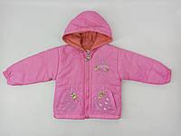 Демисезонная куртка Jingpin 23131 80см(р) розовая клубника