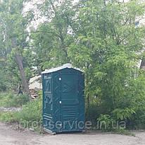 Туалетная кабина зеленая пластиковая