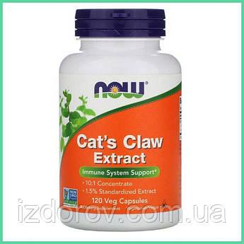 Now Foods, Экстракт кошачьего когтя, Cat's Claw Extract, 120 растительных капсул