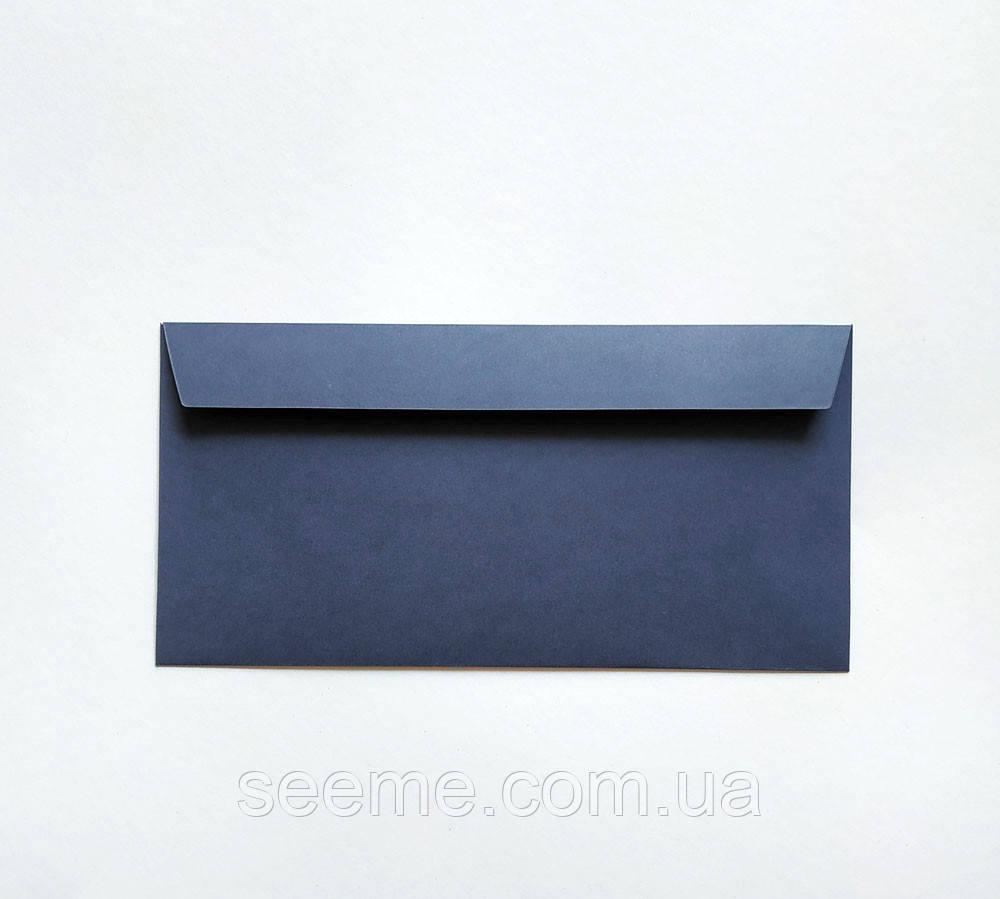 Конверт 220x110 мм, цвет королевский синий