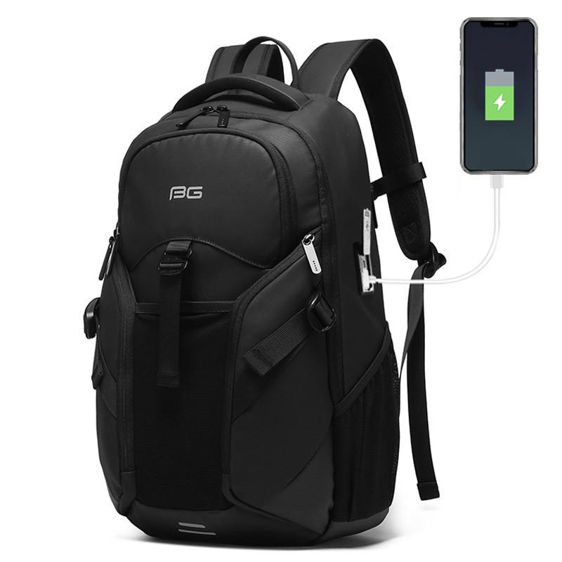 """Классический рюкзак Bange BG77116 для ноутбука до 15,6"""", влагозащищённый, с USB портом, 20л"""