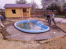 Установка чаши Венеция, Донецк-2008. Длительность монтажа под ключ - 8 дней.