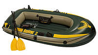 Надувная лодка Intex Seahawk Boat 2 Set Sport Series, фото 1