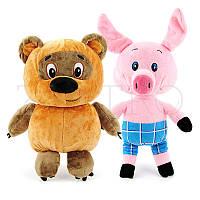 Комплект мягких игрушек Винни-Пух и Пятачок
