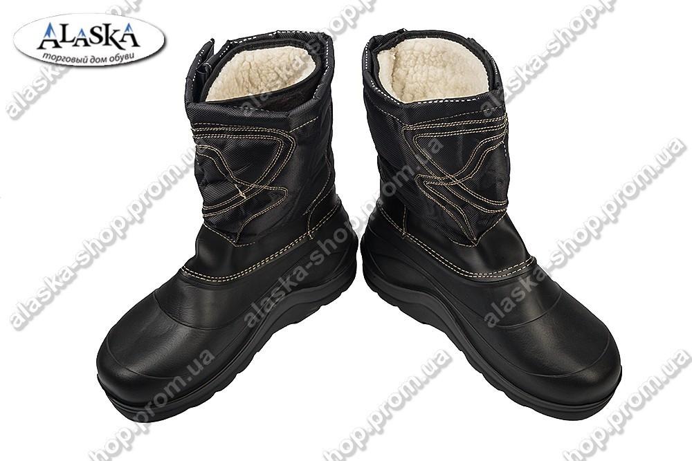Мужские сапоги (Код: М-14 черный)