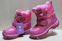 Термо сапоги на девочку, зимняя обувь, теплые розовые сапожки тм Tom.m р. 30