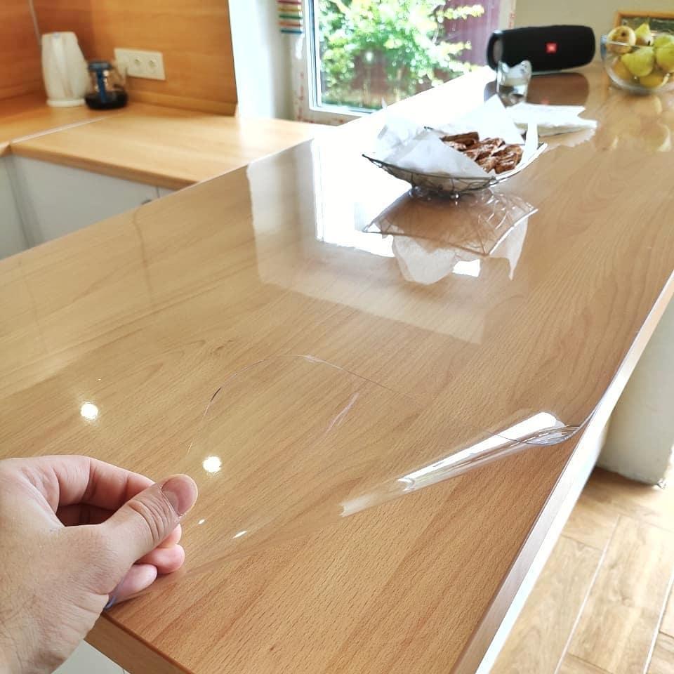 Мягкое стекло 0.6 мм 110*115 см силиконовая прозрачная скатерть на стол, ПВХ Силиконовая скатерть