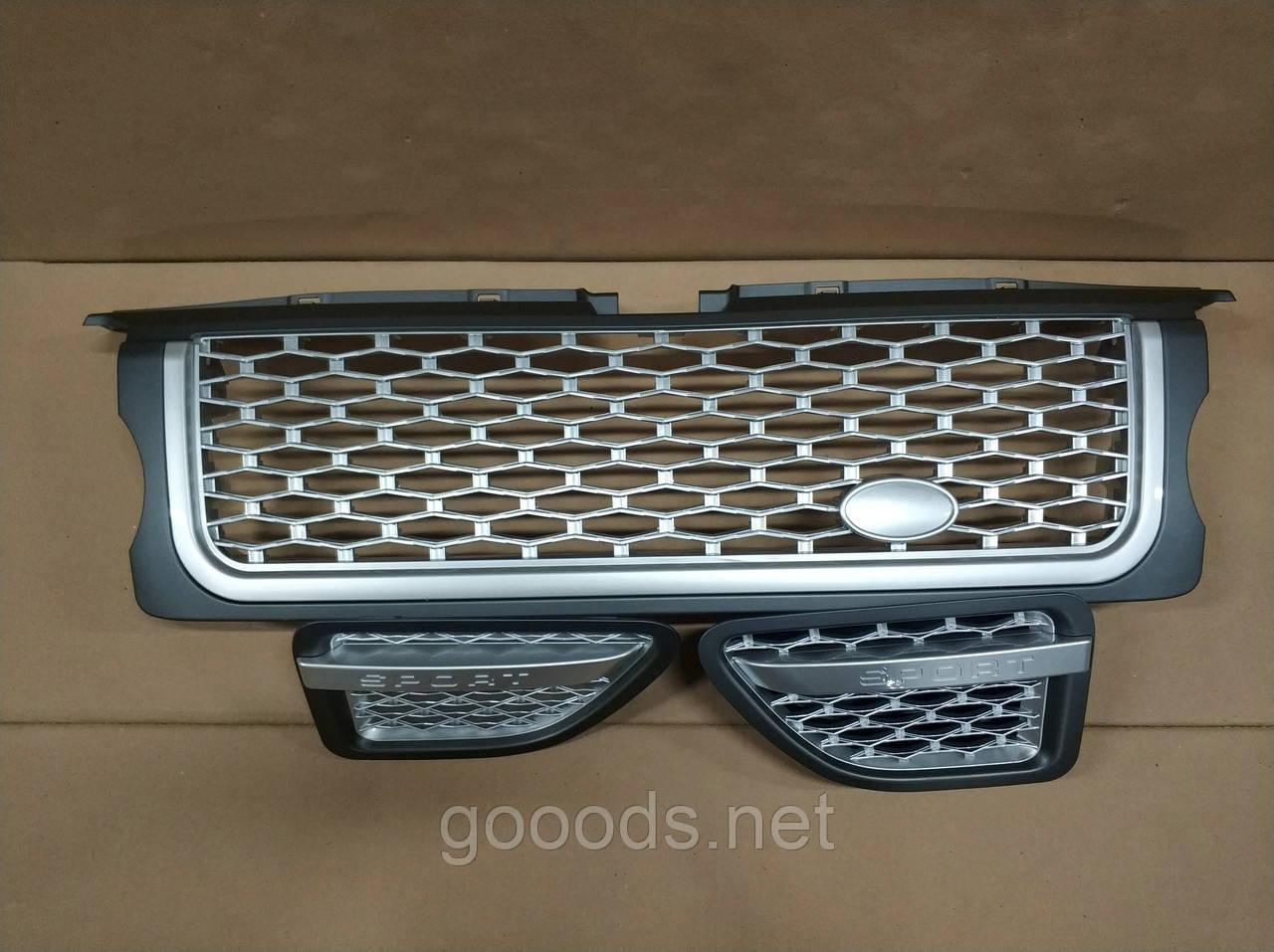 Решітка радіатора і зябра Range Rover Sport (2005-2009) Сіра