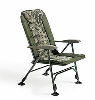 Кресло для рыбалки карповое Mivardi Chair CamoCODE Quattro с подлокотниками и регулируемой спинкой(M-CHCCQ)