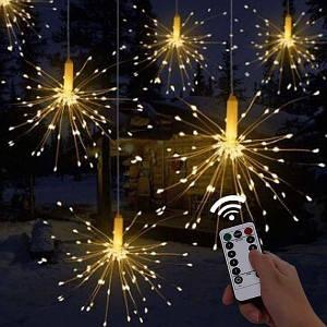 Светодиодная гирлянда Феерверк Firework автономная 120LED, длина нити 16см с пультом