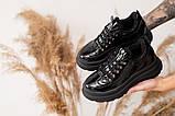 Женские ботинки кожаные зимние черные, фото 3