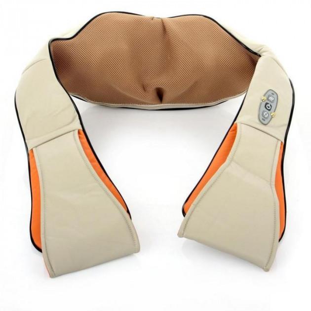 Универсальный массажер Massager of Neck Kneading, Массажёр роликовый электрический для спины и шеи Massager