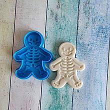 Формочка-вырубка для пряников + штамп  Набор Хэллоуин №2 - Скелет