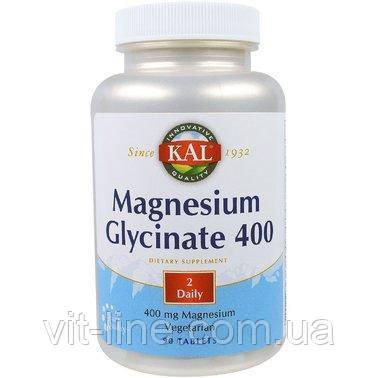 KAL Глицинат магнію 400мг 90 таблеток