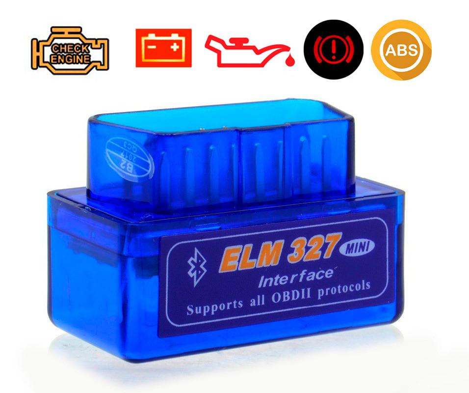 Автомобильный сканер ELM 327 mini Bluetooth, адаптер для диагностики автомобилей (Вер. 1.5) (TS)