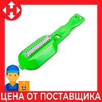 Распродажа! Скребок для чистки чешуи Fish Sharpener зеленая, ручной нож с контейнером для чистки рыбы, фото 1