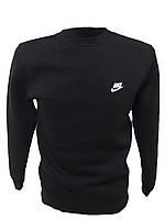 Зимняя спортивная мужская кофта (свитшот) черная Nike