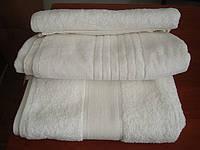 """Махровое полотенце 100Х150 """"Египетский хлопок"""" Белое 550"""