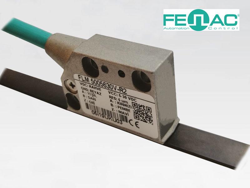Линейный магнитный датчик FLM5005 (5 мкм, 5-30В)