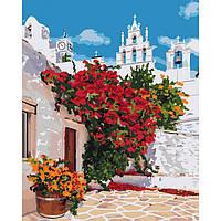 "Картина по номерам ""Цветущая Греция"" 40*50 см, ТМ Идейка (КНО3577)"