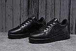 Кроссовки мужские 18062, Nike Air, черные, [ 41 42 44 45 46 ] р. 41-26,7см., фото 2