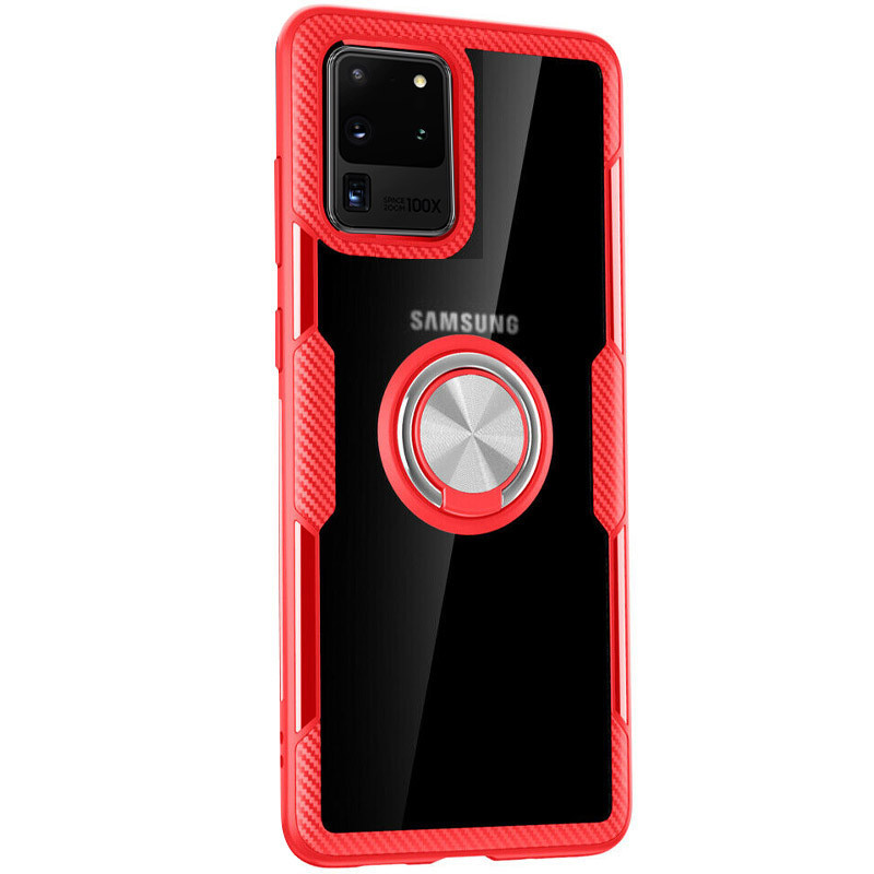 TPU+PC чехол Deen CrystalRing for Magnet (opp) для Samsung Galaxy S20 Ultra