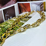 """Цепочка многослойная с большими звеньями """"Large Chain"""", 2 цвета, фото 5"""