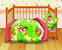 """Детское постельное белье в кроватку """"Кошки-Мышки"""" Красная шапочка"""