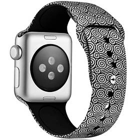 Силиконовый ремешок с рисункомдля Apple watch 42mm / 44mm