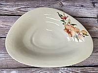 Блюдо для вареников белое с деколью 32 см, фото 1