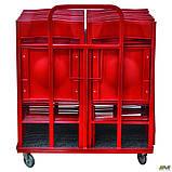 Тележка для стула Ибица красная, фото 2