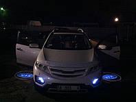 Подсветка дверей автомобиля, проекция логотипа Kia