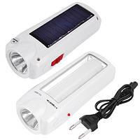 Фонарь светодиодный аккумуляторный Luxury (Yajia) 1027 T, 1W+9SMD, солнечная батарея, ЗУ 220V