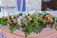 Оформление свадебной беседки в нежно-розовых тонах