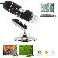 Портативный цифровой USB Microscope микроскоп на стойке для Windows Mac Android ZOOM-1600X