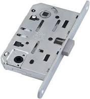 AGB B061025034 Механизм для межкомнатных дверей (магнит)  Mediana Polaris WC Мат Хром 96мм