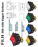 Кнопка IP67 - Водонепроницаемый кулисный переключатель KCD4, нержавейка 30А, фото 2