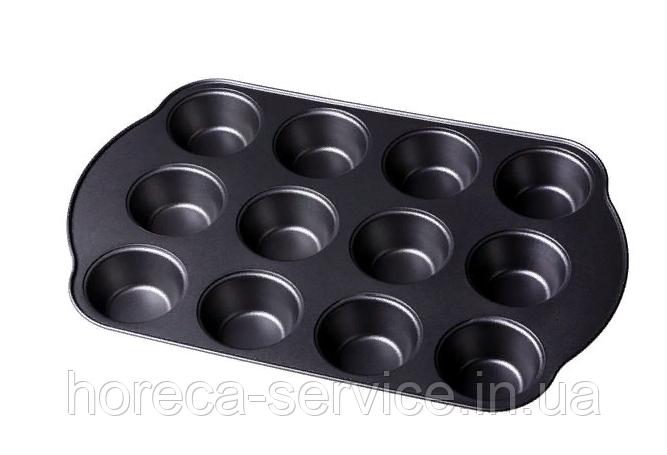 Форма антипригарная для выпечки кексов 12 шт 350*260*30 мм  (шт)