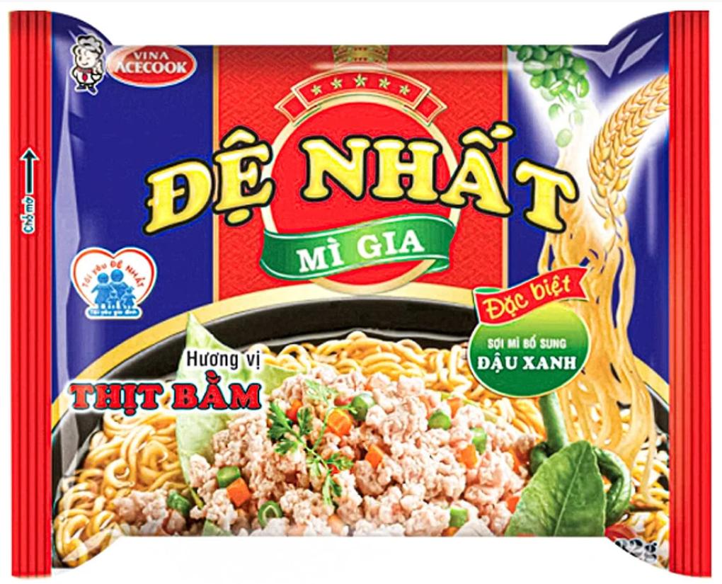 Вьетнамская лапша быстрого приготовления De Nhat Mi Gia 83г (Вьетнам)