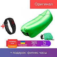 Надувной шезлонг гамак Ламзак Lamzac надувной матрас - мешок водонепроницаемый до 200 кг, зеленый
