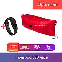 Диван мешок надувной матрас | надувной шезлонг-мешок водонепроницаемый Ламзак красный