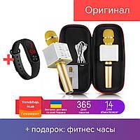 Портативный беспроводной Bluetooth микрофон-караоке Q7 в чехле