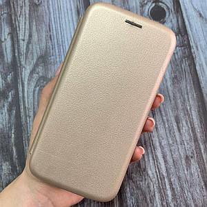 Чехол-книга для Samsung Galaxy S7 с магнитом подставка карман под карту чехол книжка на самсунг с7 золотая