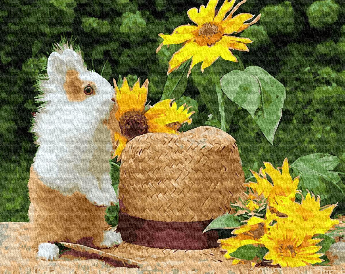 Картина за номерами Домашний кролик GX28853 40х50см набір для розпису, фарби та пензлі набір для розпису,